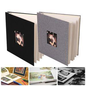 2021 New Handmade Scrapbook Diy baby wedding Linen Coverage, Photos, Albums, Scrapbook, Self-adhesive Photo Album Kind of Sticky Home Yidk