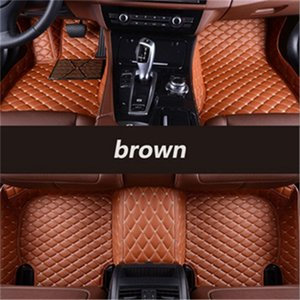 Custom car floor mats for Cadillac ATS BLS CTS STS SRX SLR CT6 SLS Escalade car Waterproof carpet mats Non-slip Car styling
