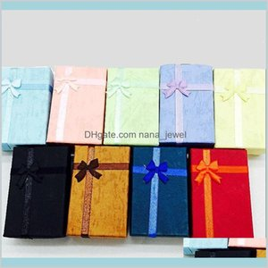 5X8X2.5Cm Fashion Display Packaging Box Ring & Earring Bracelet Necklace Set Gift Box For Jewelry Gift Z6Lmv Ospbz