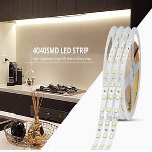 12V Led Strip Light 4040 SMD Brighter Than 2835  LED Cabinet Lights For Kitchen Bedroom Furniture Night Lamp Home Decoration