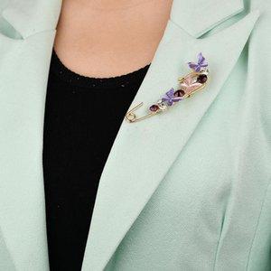 Elegante mariposa Rhinestone Broche Pin Bee Femenino Moda Broches Flower Corona Broche Regalo