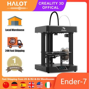 Printers HALOT Official Ender-7 High Speed 3D Printer With Dual Cooling Fans Improved Filament And Tube Premium Extruder 250×250×300mm