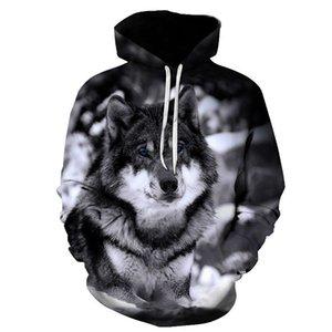 Biaolun 2020 Nouveau Sweats à Sweats à capuche Homme Homme Automne Hiver Hip HOP HOP HOPHY HOPS CASIEN DE LA MARQUE DE CASSING 3D Wolf Head Sweat-shirt S-6XL