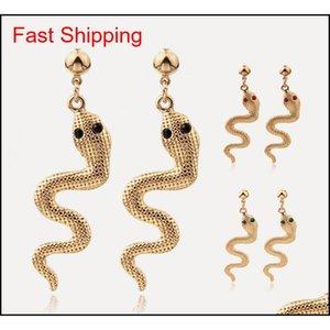 New Chrismas Gift For Girl Lady Snake Earrings Kit Animal Snake Dangle Earrings Snake Wave Drop Earrings For W jllUpr lottery2010