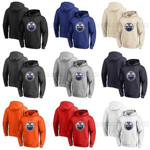 사용자 정의 Edmonton oilers Hoodie 유니폼 풀오버 까마귀 모든 이름 번호 빈 스티치 하키 후드 스웨터