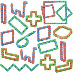Hot Wacky Pistas Snap y haga clic en Fidget Toys Snake Puzzles Tangle Fidget Juguetes para niños adultos Party TDHD El alivio del estrés Mantiene los dedos ocupados