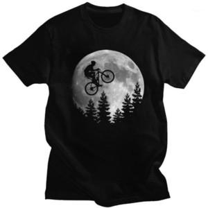 Cool Moon Mountain Bike T-shirt Men Short-Sleeve MTB Biker Tshirt Cyclist Graphic Tee Pre-shrunk Cotton Biking Rider Shirts Gift1