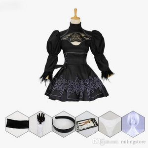 Nier Automatas 2B Cosplay Costume Yorha No. 2 Model B Neal Era Actress Anime Black Maid Dress Costumes