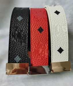 2022 MC buckle mens designer belts High quality jeans casual belt Mens plaid business belt