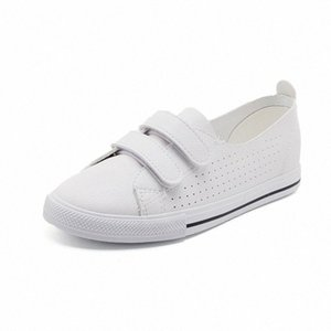 Femmes Casual Sneakers Blanc 2019 Spring Summer Hook Crochet En Cuir Plat Chaussures Femmes Sneakers Femme Chaussures Femme Sneaker 06zy #
