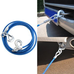 2021 NEW Heavy Duty Tow Ropes 4m 5 Tons Wire Cable High Strength Safety Hook Steel Trailer Car Emergency Towing Rope