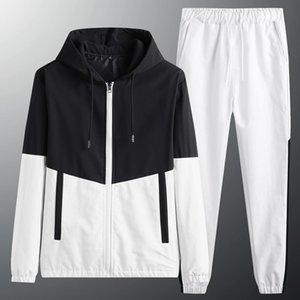 Nueva Llegada Sportswear Spring Autumn Traje de otoño 2 piezas por conjunto Sudadera con capucha + Pantalones deportivos Traje de moda Ropa de moda L-6XL