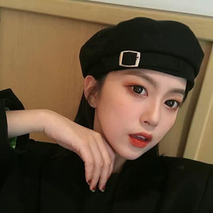 The latest trend of 2021 international fashion girl's Beret women's fashion in spring and summer thin small fresh Japanese retro Western Pur