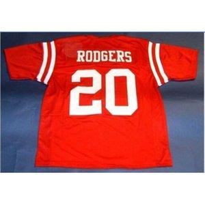 Homme Nébraska Cornhuskers # 20 Johnny Rodgers Custom College Jersey Taille S-5XL ou personnalisée N'importe quel nom de nom ou numéro de numéro
