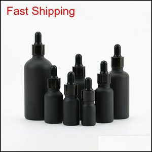 Frosting Black Bottle Glass Dropper Bottling Of Perfume Mug Lotion Prefum Cup Rubber Head Flat Filter Plug 1 68Jg B2 Rthh0 Eyhqx