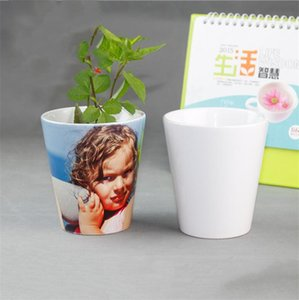 Sublimation Ceramic Flower Pot Thermal Transfer Pots Sublimated Blanks Planters Customized Heat Printing Planter A02