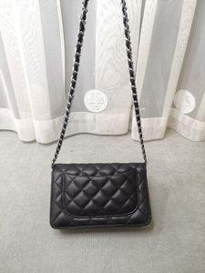Fashion Women Shoulder Bag Luxury Quality Leather Ladies Chain Messenger Crossbody Girl Diamond Lattice Mini handbag Gold and Silver Chains