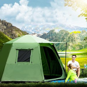 6-8 Person Ultralarge Double Layer Automatic Waterproof Professional Outdoor Camping Tent Barraca Large Gazebo With Snow Skirt