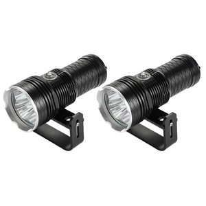 Flashlights Torches Diving Waterproof 4 XHP70 Underwater Powerful Deep Sea 200M Dive Fish Catching Light With Mount