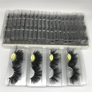 Dramatic Messy Faux Mink Eyelashes 10 Styles 25mm 3D Natural Eyelash Packing In Tray Label with Cover Eye Lashes Extension Makeup