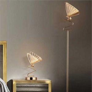 Floor Lamps Light Luxury Enamel Butterfly Table Lamp Modern Minimalist Creative Living Room Bedroom
