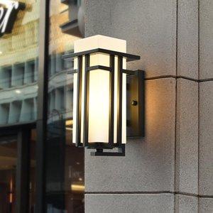 مصباح الجدار مصباح أسود في الهواء الطلق، المعادن + الزجاج الظل حديقة حديقة الأضواء الخارجية، آخر العتيقة شرفة الشرفة الشمعدانات lightingwf