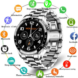 Smart Watches LIGE Business Watch Men Heart Rate Monitor Activity Tracking Steel Band Sports Waterproof Call Smartwatch