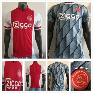 Версия игрока FC Ajax Футбол Джетки Tadic Van de Beek Neres Tagliafico Promes Nouri Huntelaar Пользовательские 2020 Новый Домашний Домашний Футбольная Рубашка