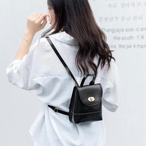 Женщины Мода Мини-Рюкзак ПУ Кожа Простой Маленькая Сумка Многофункциональный Женщина Путешествия Bagpack Schoolbags Девушки Мочила