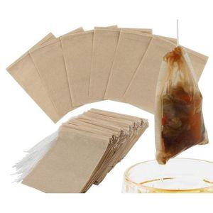 100pcs lot Tea Filter Bags Natural Unbleached Paper Tea Bag Disposable Tea Infuser Empty Bag With Drawstring For jllQIl sport77777