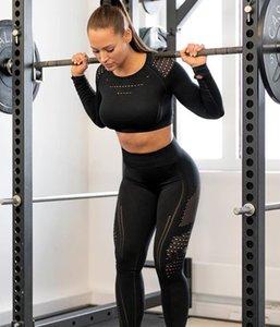 Bayan Eşofman Salonu Suit Fitness Giyim Kusursuz Örme Sıkıştırma Dikişsiz Tayt Spor Yogaworld Esnek Spor Giyim Gymshark