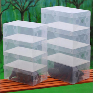 10pcs Children women men Clear Plastic Shoes Storage Box Foldable Drawer Type Box For Children Women Men Shoes O jllRui