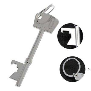 Portable Key Shaped Bottle Opener Keychain Alloy Beer Bottle Opener Keyring Creativity Household Kitchen Corkscrew Pendant FWF5177
