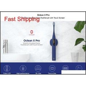 Más nuevo YouPin Oclean X Pro Sonic Cepillo de dientes eléctrico para adultos IPX7 Ultrasonic Math Fast Charging Cepillo de Dientes WI JLLLZUX BDEBAG