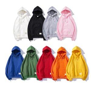 Новая мода капюшон мужчины женщин спортивное письмо печати толстовка азиатский размер S-XXL 9 цветов толстые толстое пуловер длинные рукава