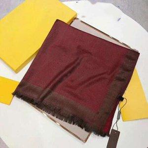 2021 бренд мода Tencel хлопок длинный шарф высококлассный дизайнер ретро дамы платок зимой теплый шарф букв180 * 70