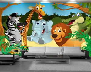 Cartoon Animals 3d Wallpaper 3d Modern Wallpaper Child Bedroom Interior Decorative Silk 3d Mural Wallpaper