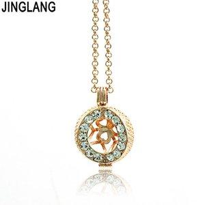 Jinglang Alta Qualidade Colar Baby Musical Chime Bells Ball Cage Anjo Rhinestone Pingentes Declaração Colar Jóias