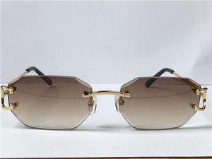 Satan Vintage Güneş Gözlüğü Piccadilly Düzensiz Çerçevesiz Elmas Kesim Lens Gözlük Retro Moda Avant-Garde Tasarım UV400 Açık Renk Dekoratif Gözlük 0103