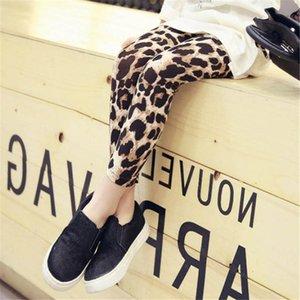 Kids Leggings Baby Pants Girls Tights Child Clothing Spring Autumn Children Leopard Print Trousers B6345
