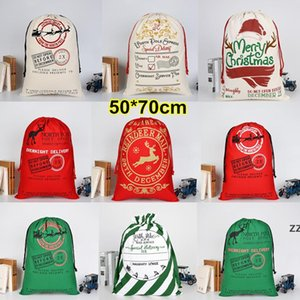 Christmas Halloween Gift Canvas Large Storage Bags Santa Reindeers Drawstring Candy Bag Party Wedding 30 Styles HWB10528