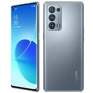 Original OPPO Reno 6 Pro + Plus 5G Mobile Phone 8GB RAM 128GB ROM Snapdragon 870 50MP Android 6.55 inch AMOLED Full Screen Fingerprint ID Face NFC 4500mAh Smart Cellphone