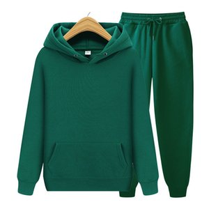 Jogging Leisure Fitness Sports Clothing straight Sport Men Pack Hoodie + Broek Mode Smart Fit