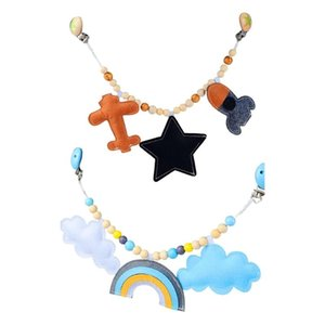 Stroller Parts & Accessories Baby Pendant Toy Pram Clip Pacifier Chain Teething Beads Wooden Teether Mobile Rattle For Infants Nursing Chewi