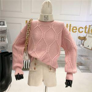 Women's Twist Temperament Released Outdoors Wear Top Foreign Knit Sweater Xdk4