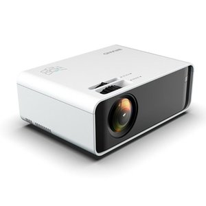 White Portable Projector High Definition 1080p Mobile Phone Wifi Wireless Same Screen Projector Home Theater Video