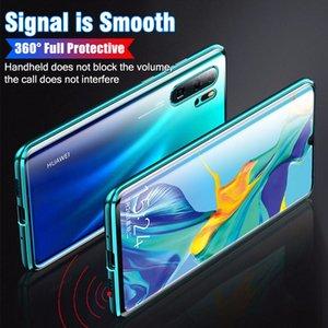 Protective P40Pro Metal para Funda Magnética Flip Funda Huawei Portada Adsorción Protección Mate 20Pro Teléfono Teléfono Templado Vidrio 360full P30 Twwo