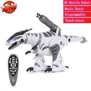 RC Battle Dinosaur Smart RC Robot Dinosaur Intelligent Dinosaur Fighting Robot Programmable Touch-sense Music Dance Toy for Kids