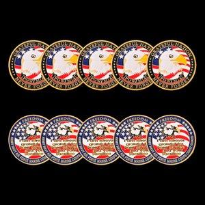 5 pcs EUA Exército Marinha Aérea Força Marinha Corpo Costeira Freedom Eagle Gold Banhado Cor Rare Desafio Moeda para Coleção