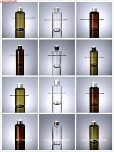150ML GREEN TRANSPRENT  BROWN plastic PET bottle with aluminum lid for lotion oil serum emulsion shampoo cosmetic packinghigh qualtity